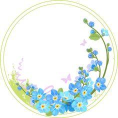 card ideas with oval and circle Borders For Paper, Borders And Frames, Flower Circle, Flower Art, Pink Floral Background, Text Frame, Cute Frames, Flower Meanings, Shaped Cards