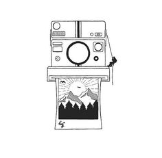 Camera Drawing, Camera Painting, Pen Art, Easy Drawings, Space Drawings, Ink Pen Drawings, Doodle Art, Drawing Sketches, Cool Sketches