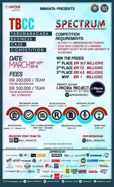 #InfoLomba #Lomba #BusinessCase #TBCC #Tarumanagara #Jakarta TBCC Tarumanagara Business Case Competition 2018 Win Total Prize IDR 23,5 Million  DEADLINE: 23 Februari 2018  http://infosayembara.com/info-lomba.php?judul=tarumanagara-business-case-competition-2018-win-total-prize-idr-235-million
