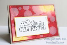 """Geburtstagskarte mit Boketechnik und dem Gastgeberinnenset """"Geburtstagsgrüße für alle"""" von Stampin' Up!"""