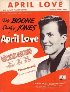 April Love Pat Boone Shirley Jones Rare Vintage Piano Sheet Music | eBay