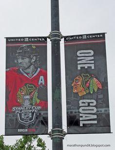 Chicago Blackhawks street banner: Duncan Keith--One Goal