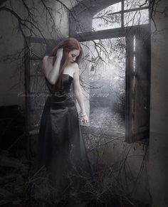 Deep into that darkness peering, long I stood there wondering, fearing,  Doubting, dreaming dreams no mortal ever dared to dream before;