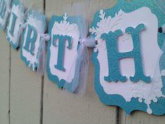 Frozen birthday banner elsa anna party by CelebrationBanner