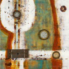 Pam Nichols - Encaustic Artist - Relationship Between Two