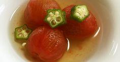 トマトの赤が食卓を華やかにし、食欲のない時でも、ペロリと食べられます。