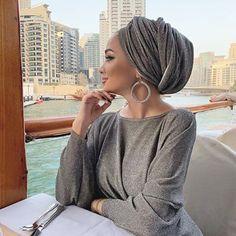 Image may contain: 1 person, sitting, table and outdoor Turban Hijab, Turban Mode, Turban Outfit, Muslim Fashion, Modest Fashion, Hijab Fashion, Hijab Wedding Dresses, Hijab Bride, Bridal Hijab