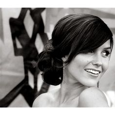 this was how i wore my hair at my wedding. i should do this again, just for fun!