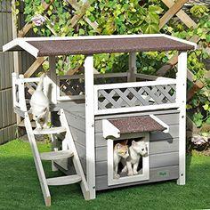 "Petsfit 30""x22""x29""Outdoor cat house,New Version With Escape Door, Ideal cat condo,Weatherproof Cat Shelter"