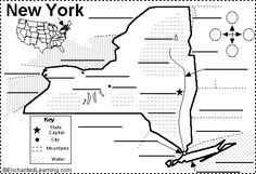 Label New York state map for Teddy unit