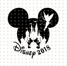 Disney castle Mickey mouse head silhouette Tinker bell Peter Pen trip to Disney 2018 for cricut and silhouette svg Disney Family clipart svg