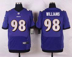 bfa6c753c ... Mens Baltimore Ravens 98 Brandon Williams Purple Team Color NFL Nike  Elite Jersey ...