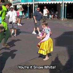 And when he and Wendy played Shadow Tag with a mini-Snow White. | 25 Times Disney Face Characters Were Completely Adorable