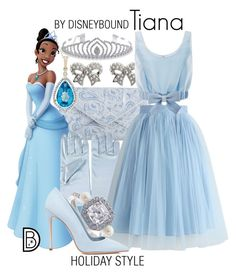 """""""Tiana"""" by leslieakay ❤ liked on Polyvore featuring Michael Kors, M&Co, Chicwish, Honor, Dee Keller, Bling Jewelry, Christmas, disney, disneybound and disneycharacter"""