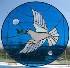 Image result for bird stained glass oval