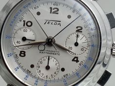 Telda Rattrapante / split-second (Venus 185) chronograph in NOS condition