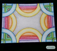 Zrin draw, dibujo creado a base de plumas y colores. Arte, geometrico, mexicanos, México