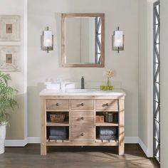 Single Bathroom Vanity with Vessel Sink . Single Bathroom Vanity with Vessel Sink . Rustic Vanity, Wood Vanity, Single Sink Vanity, Vanity Sink, Double Vanity, Single Vanities, Bathroom Photos, Bathroom Ideas, Bathroom Inspiration