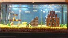 aquario decorado de Super mario bross