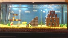 Super Mario Bros. aquarium DIY project is one you'll definitely want to make | Damn Geeky - The geek's guide to awesomeness