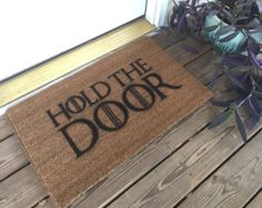 Game of Thrones inspired doormat coconut  by EngravedLaboratory