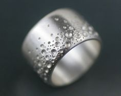 """sterling silver """"seafoam"""" wide band statement ring handmade by lolide"""