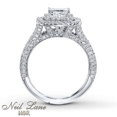 side view neil lane engagement rings | sideView
