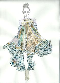 You sketch/draw/paint/collage the collection!