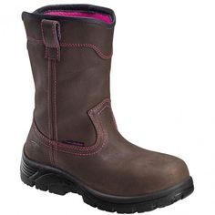 7146 Avenger Women's WP EH Comp Toe Safety Boots - Brown www.bootbay.com