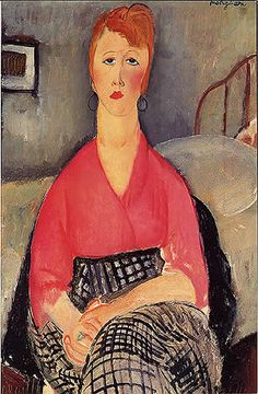 by Amedeo Clemente Modigliani (1884-1920) was an Italian painter and sculptor who worked mainly in France.