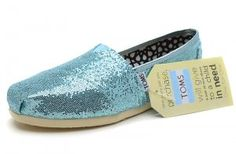 $25.00Blue Womens Glitters Toms Shoes [toms-011] :