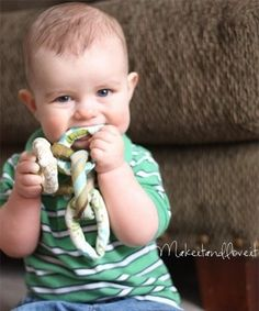 HANDmade with Love Toys...perfect for teething and you can wash it!