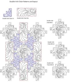 computerized quilting patterns for a Double Irish Chain Quilt