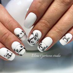 Pretty Clever Nail Designs and Colors - Fashion Panda Nail Art, Animal Nail Art, Acrylic Nails Coffin Glitter, Summer Acrylic Nails, Matte Pink Nails, Gel Nails, Fancy Nails, Trendy Nails, Cute Nail Art