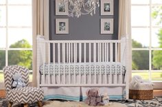 Convertible Baby Crib 3-In-1 Nursery Bedroom Furniture Toddler Day Bed White New #DaVinci #Convertible