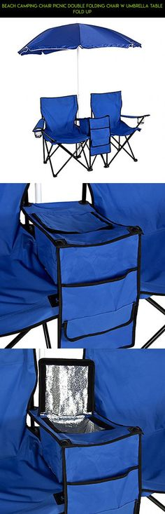 Beach Camping Chair Picnic Double Folding Chair w Umbrella Table Fold Up #jacket #products #fpv #drone #shopping #technology #for #heating #gadgets #men #plans #racing #parts #tech #kit #camera