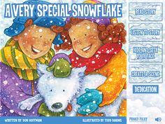 A Very Special Snowflake is a great seasonal app for kids, based on the best-selling children's book! #apps #stories