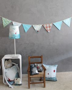 Poetry Blue & Turquoise decoration, kids, home sweet home Garland, lampshade, cushions Creation Homes, Fabric Garland, Watercolor Canvas, Lampshades, Sweet Home, Poetry, Cushions, Turquoise, The Originals