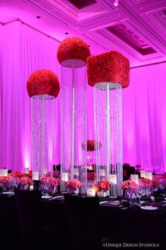 Tiffany Cook Events: Concept to Completion: Las Vegas Bling and Pink Centerpiece Crystal Centerpieces, Wedding Centerpieces, Wedding Decorations, Centrepieces, Wedding Props, Wedding Reception, Las Vegas Party, Arte Floral, Bridal Shower Games
