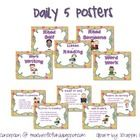 Daily 5 posters, also comes with anchor charts.   Disclaimer: This Daily 5 resource is an unofficial adaptation of the Daily 5 by Gail Boushey .