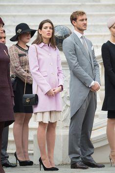 Charlotte Casiraghi wearing a Gucci coat