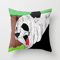 Check out society6curated.com for more! @society6 #illustration #home #decor #homedecor #interior #design #interiordesign #buy #shop #shopping #sale #apartment #apartmentgoals #sophomore #year #house #fun #cool #unique #gift #giftidea #idea #pillows #drawing #panda #bear #pandabear #animal #animals #cool #awesome #sweet #black #white #green #brown