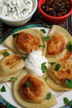 Pierogis are Eastern European decent. It's a popular Polish dish. It is reminiscent of the bramboraky the Czech soldiers made for me.  Puuuure crack mmm mmm mm :P love it! Got my guy @Jeramy Vierk hooked along with other delectable dishes ;)