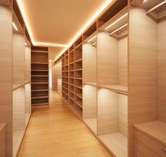 Beautiful empty closets