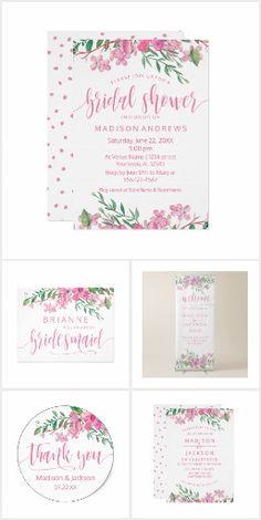 Love Blossoms Watercolor Floral - Wedding Suite