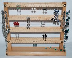 With love for wood - made by hand in the Czech Republic by Jewelry Organizer Stand, Jewelry Stand, Jewelry Organization, Necklace Holder, Jewelry Holder, Jewellery Display, Shelf, Unique Jewelry, Wood