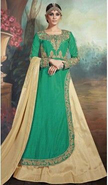 Emerald Color Silk Achkan Pakistani Style Dresses   FH493175652 #indian , #salwar , #kameez , #dresses , #suits , #women , #ledies , #designer , #clothing , #boutique , #online , #shopping , #anarkali , #churidar , #palazo , @heenastyle