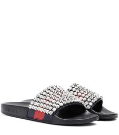 cb8ac40c1 GUCCI Crystal-embellished slides. #gucci #shoes # Recycled Shoes, Color  Names