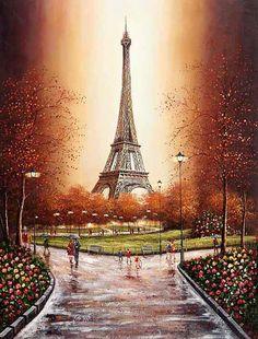 Eiffel Tower Painting, Eiffel Tower Art, France Eiffel Tower, Paris Kunst, Paris Torre Eiffel, Paris Wallpaper, Paris Painting, Art Carte, Beautiful Paris