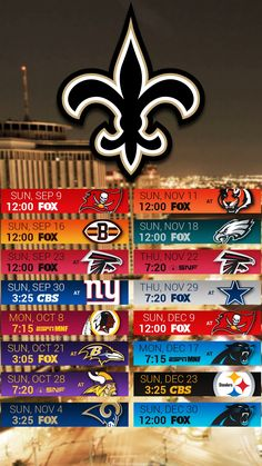 2019 New Orleans Saints Schedule My New Orleans Saints